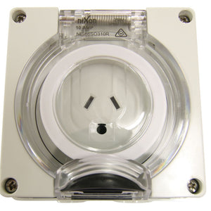 3 Pin 10Amp Socket - Round Earth