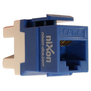 RJ45 - Cat 6 Data Jack - Keystone Style - Blue