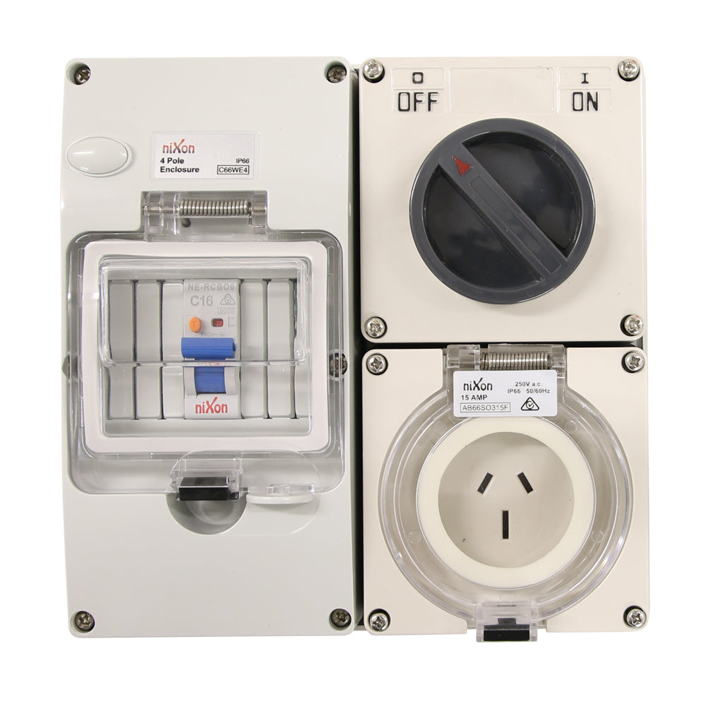 3PIN 15AMP - RCD Protected Combo!