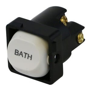 BATH - White Switch Mechanism 250V 10AMP 1 way / 2 way