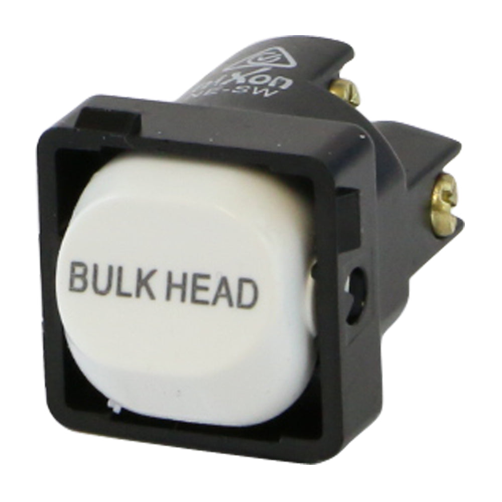BULK HEAD - White Switch Mechanism 250V 10AMP 1 way / 2 way