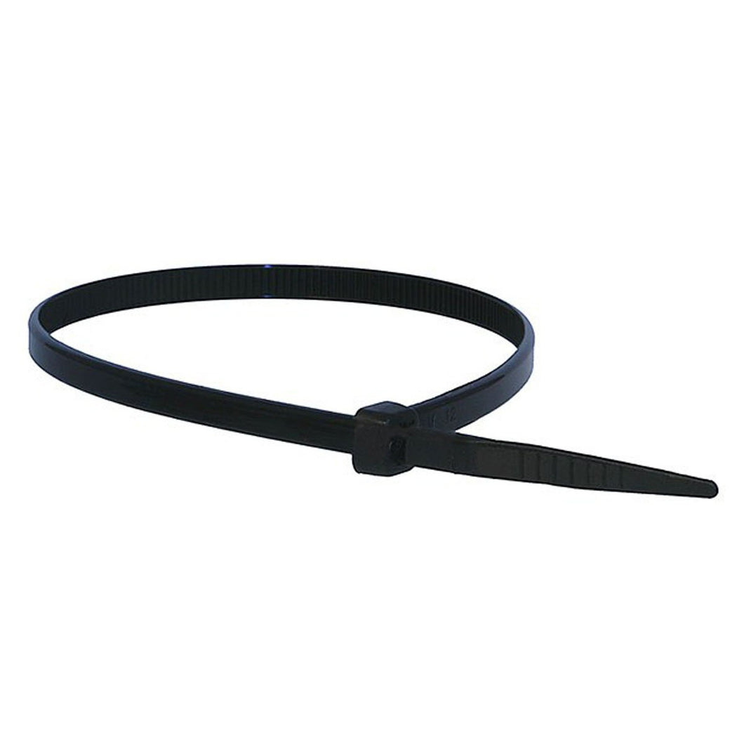 7.6mm x 400mm Black Cable Ties