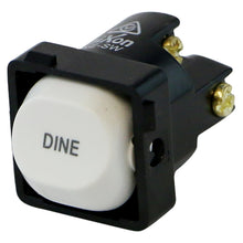 Load image into Gallery viewer, DINE - White Switch Mechanism 250V 10AMP 1 way / 2 way