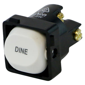 DINE - White Switch Mechanism 250V 10AMP 1 way / 2 way
