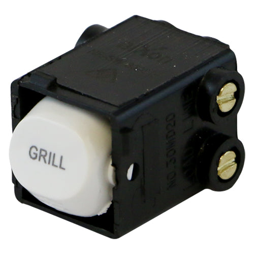 GRILL - White Switch Mechanism 250V 35AMP Double Pole