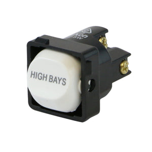 HIGH BAYS - White Switch Mechanism 250V 10AMP 1 way / 2 way