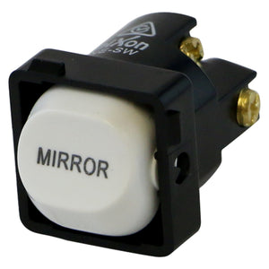 MIRROR - White Switch Mechanism 250V 10AMP 1 way / 2 way