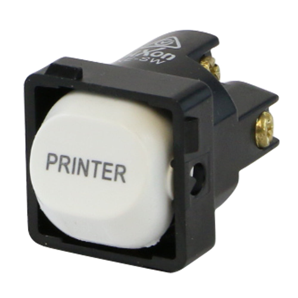 PRINTER - White Switch Mechanism 250V 10AMP 1 way / 2 way