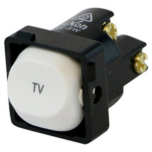 Load image into Gallery viewer, TV - White Switch Mechanism 250V 10AMP 1 way / 2 way