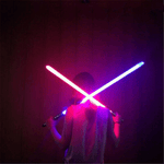 2-IN-1 LED LIGHT UP SWORDS SET FX DOUBLE BLADED DUAL SABERS(2 PACK)