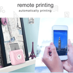 Portable Smart Photo Printer (with 6 rolls of thermal paper)