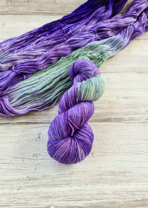 Lavender Fields - Handdyed Yarn by SkillfullyTangled