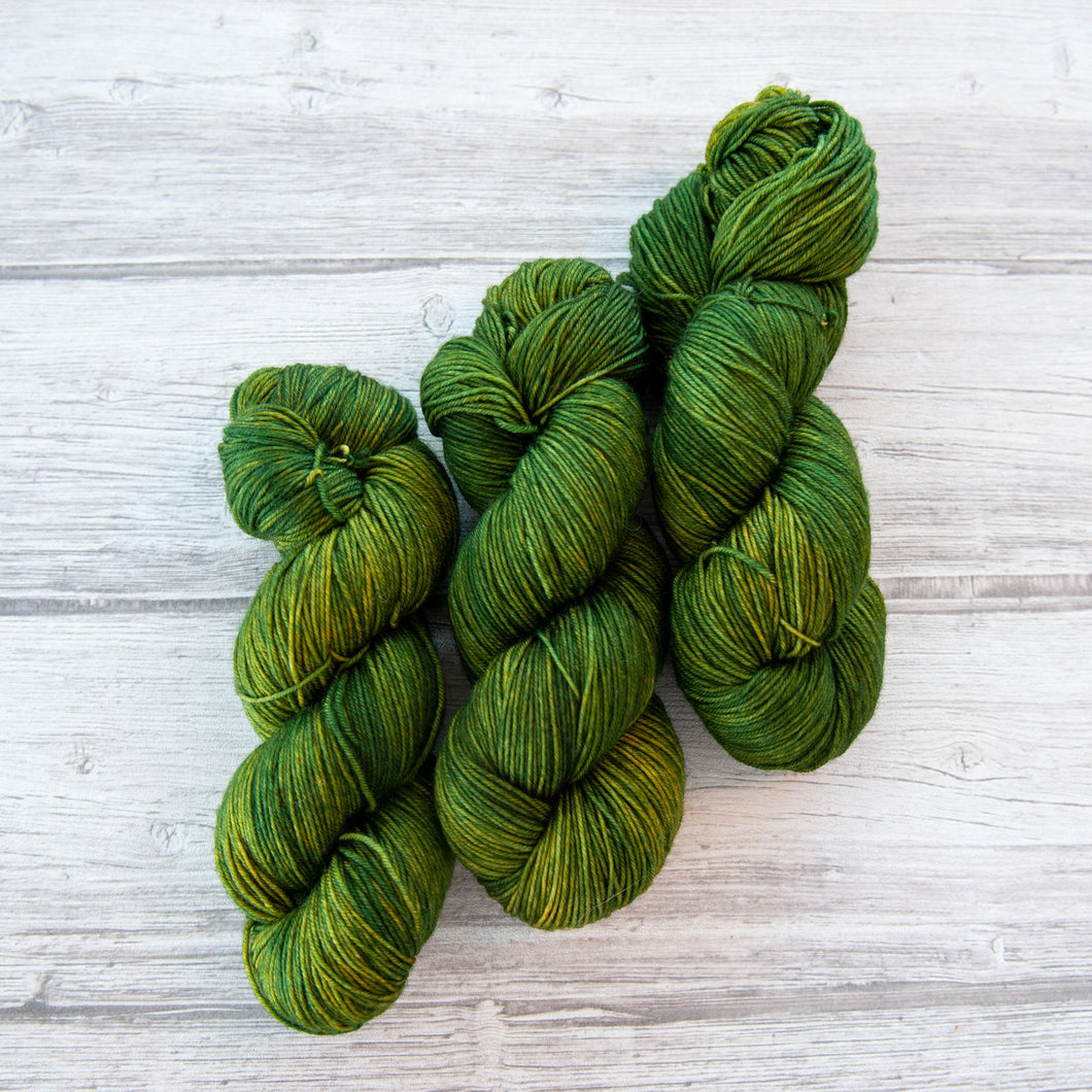 Olive - Handdyed Yarn by SkillfullyTangled