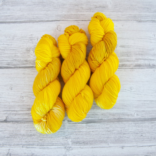 Sunflower - Handdyed Yarn by SkillfullyTangled
