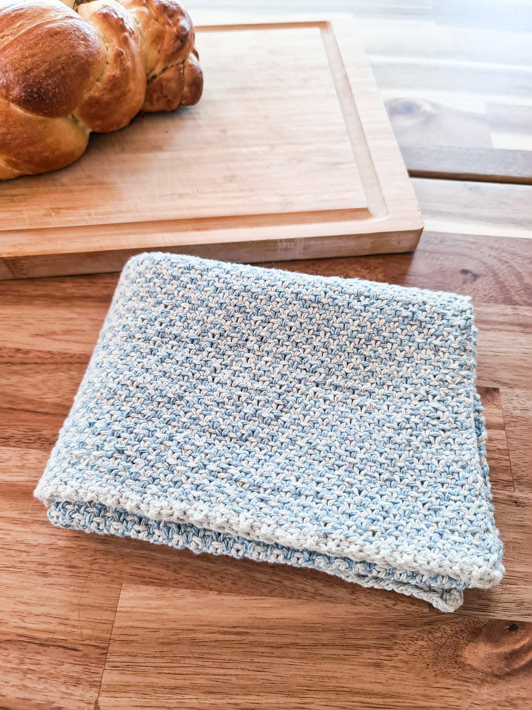 Cottage Tea Towel - Knitting Pattern by SkillfullyTangled