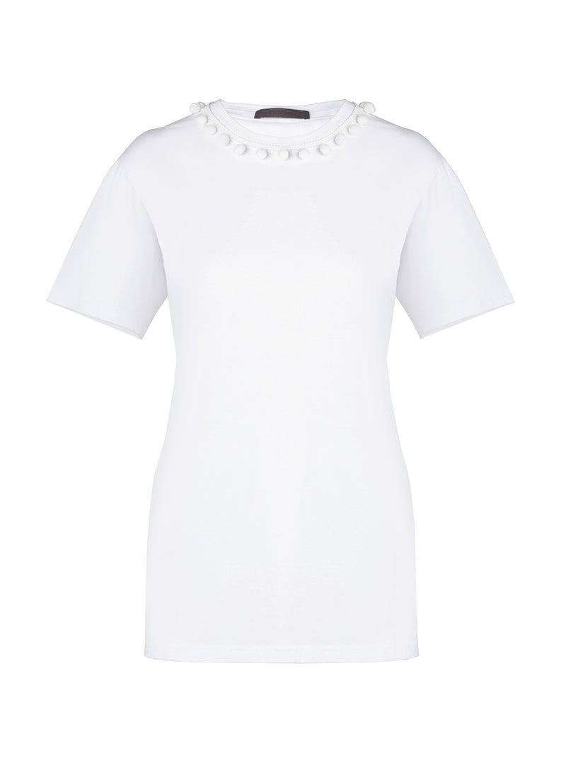PomPom Cotton T-Shirt