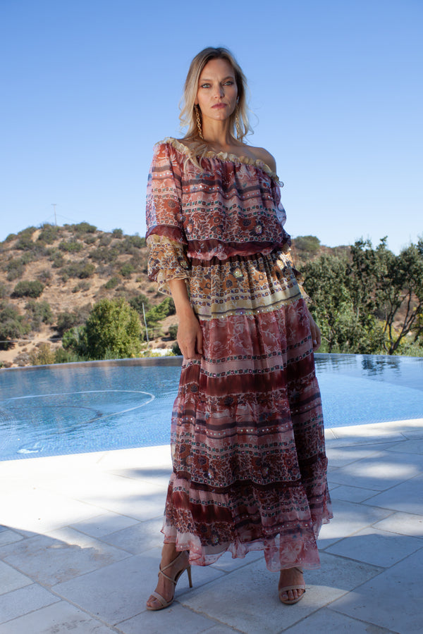 Bohemian Off-Shoulder Dress