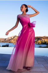 Off the Shoulder Ombre Gown
