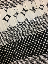 Black & Ivory Dot Matelasse