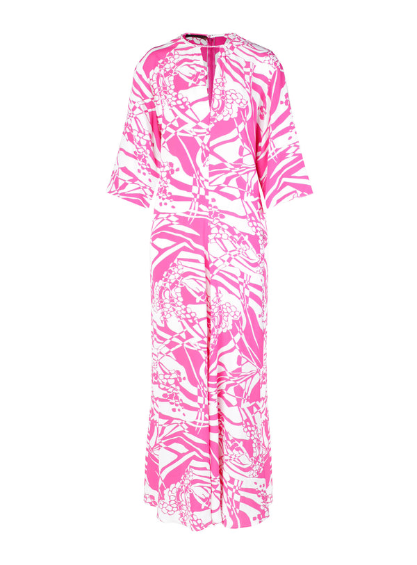 Mod Abstract Jumpsuit with Self Belt