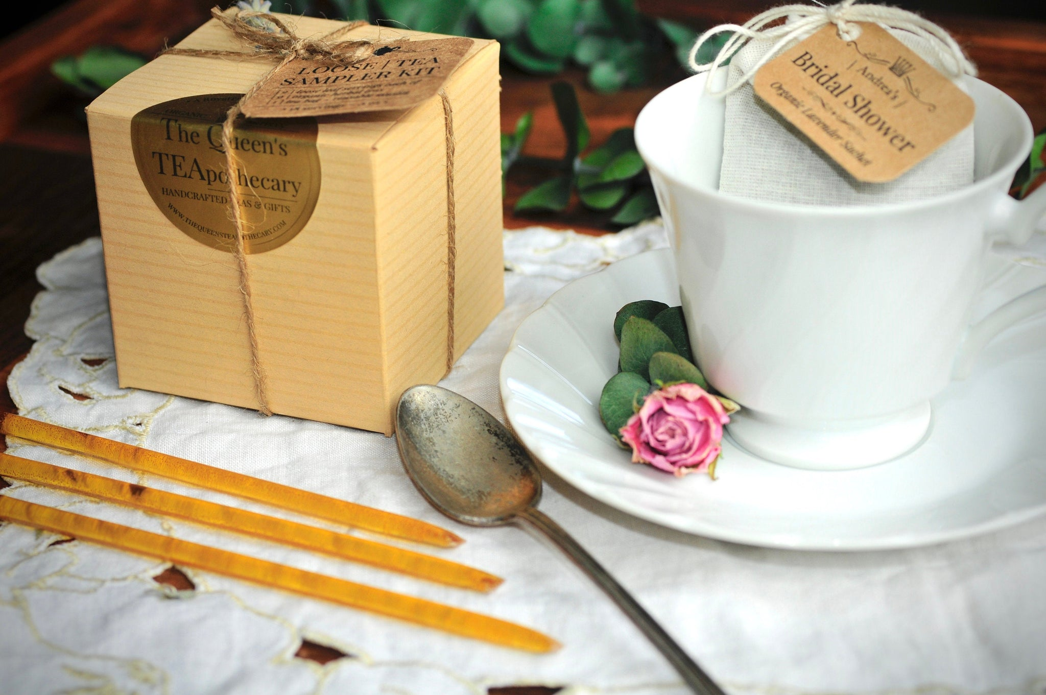HERBAL Loose Tea Sampler Kit | CUSTOM Wedding ~ Party ~ Event Favor