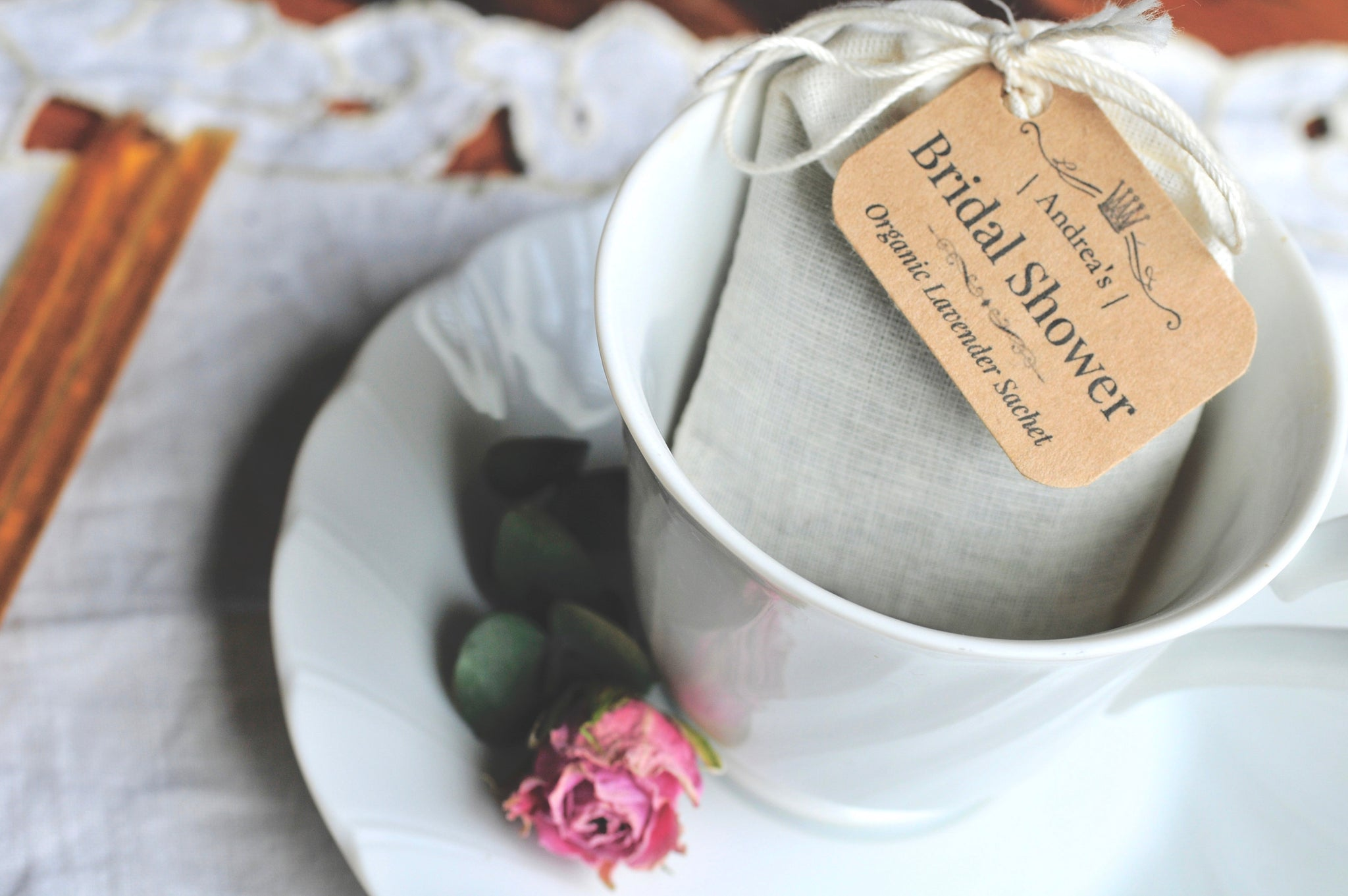 24 | WEDDING or BRIDAL FAVORS | Custom Lavender Sachets