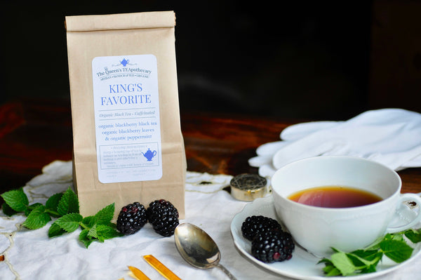 KING'S FAVORITE tea | Blackberry Black Tea, Blackberry Leaves, Peppermint