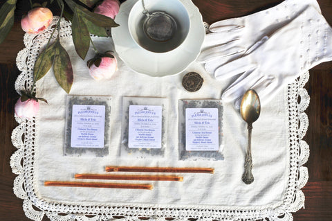 CUSTOM TEA FAVOR | Large Glassine Envelope | Artisan Handcrafted Assembled Loose Tea Favors | 2 servings