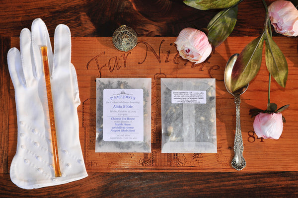 CUSTOM TEA FAVOR | Large Glassine Envelope | 2 servings