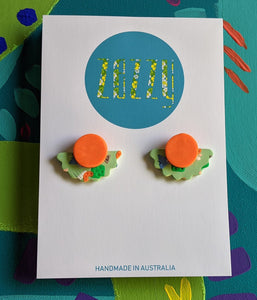 Polymer Clay 'Citrus Tree' Studs