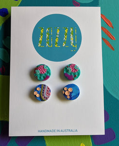 Polymer Clay Studs 2 Pack