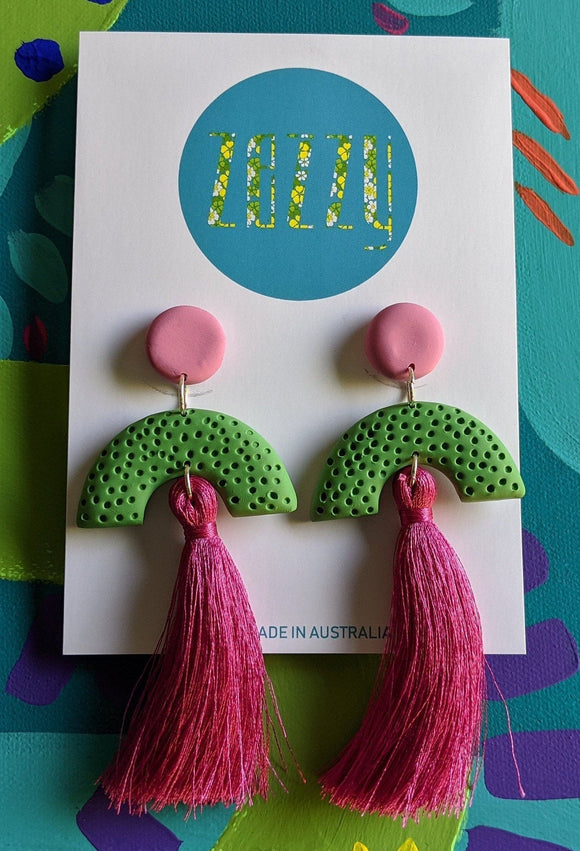 Claire Polymer Clay Tassle Statement Dangles