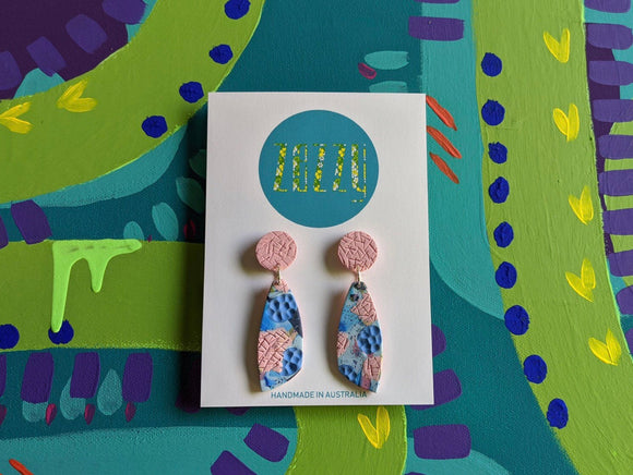Polymer Clay Statement Studs - 'Graffiti'