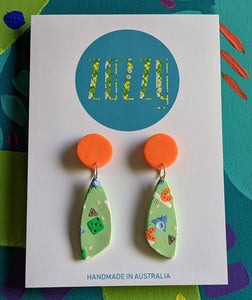 Polymer Clay Statement Studs - 'Carrot Cake'