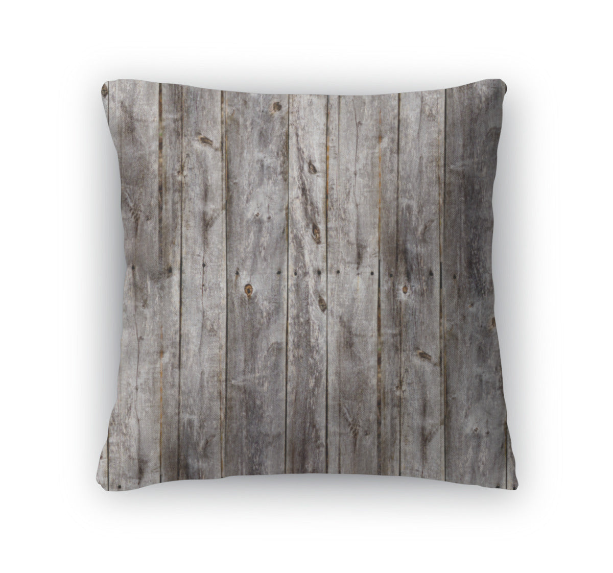 Throw Pillow, Old Gray Fence Boards Wood - fashionbests
