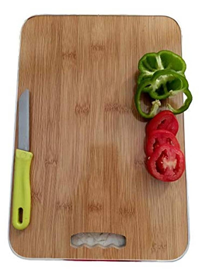 Kitchen Chopping Board with 1Pc Paring Knife & 1Pc Peeler Ideal for Chopping Fruits-Vegetables - Breads & More - (L=29xB=20xH=0.4cm) ? Pink ? 3 Pcs Chopper Set - Anti-Rust - fashionbests