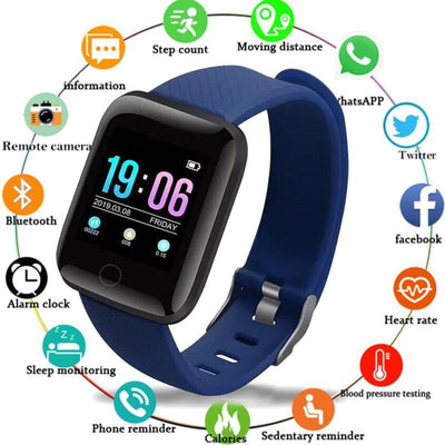 Smart Watch Heart Rate Blood Pressure Waterproof Manufacturers Direct - fashionbests