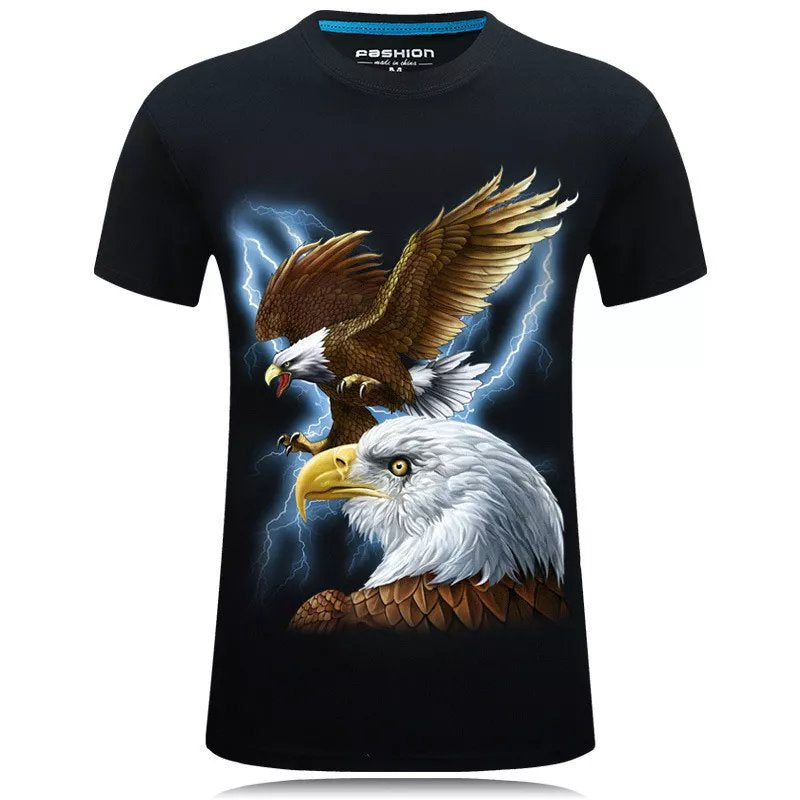 Personality 3d Printed Eagle Animal Falcon Large Size T-shirt - fashionbests