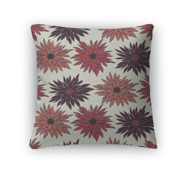 Throw Pillow, Floral Pattern With Chrysanthemum