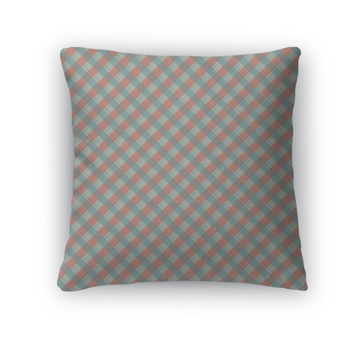 Throw Pillow, Vintage Of Diagonal Plaid Pattern Concept Illustration Pattern - fashionbests