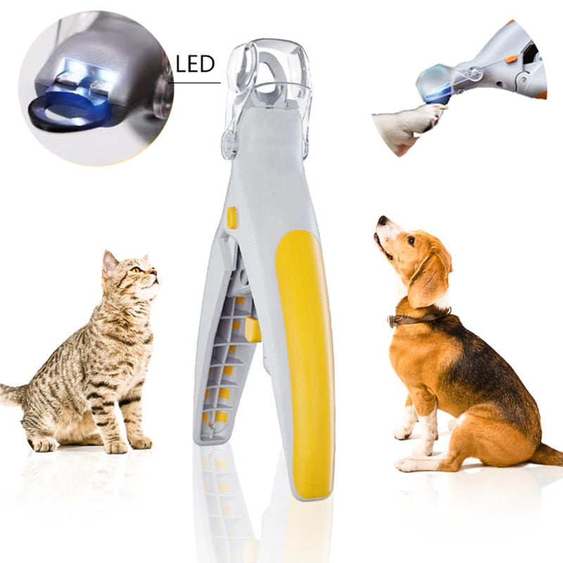 LED Pet Nail Clipper Trimmer Dogs Cats Nail Cutter Claw Cutter Stainless Steel Grooming Scissors Dog Nail Clippers Pet Claw Nail - fashionbests