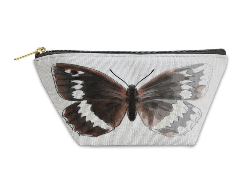 Accessory Pouch, Butterfly Brintesia Circe Unfinished Watercolor Drawing Imitati