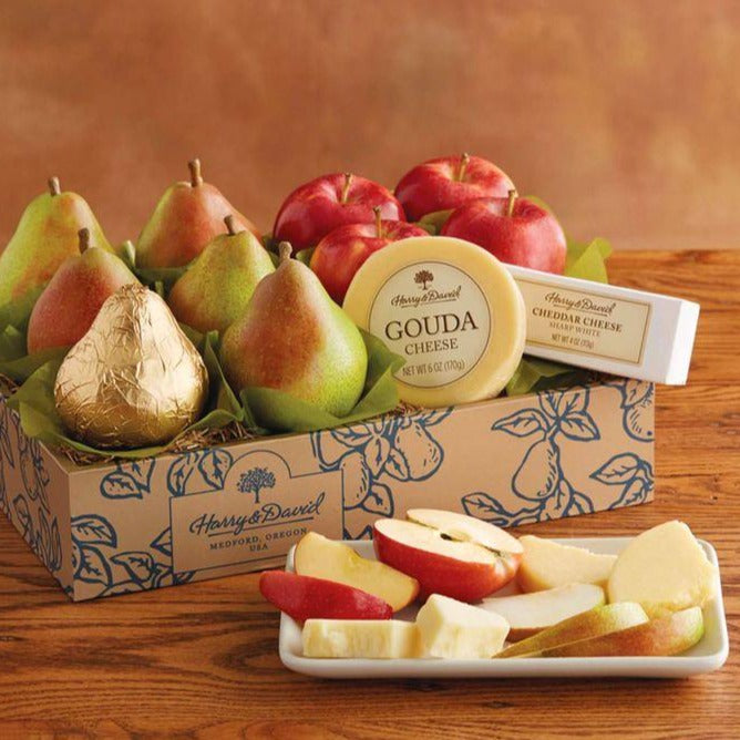 Classic Pears, Apples, and Cheese