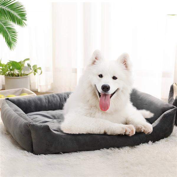 "38"" Wadding Bed Pad Mat Cushion for Dog Cat Pet Gray - fashionbests"
