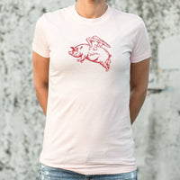 Flying Pig T-Shirt (Ladies)