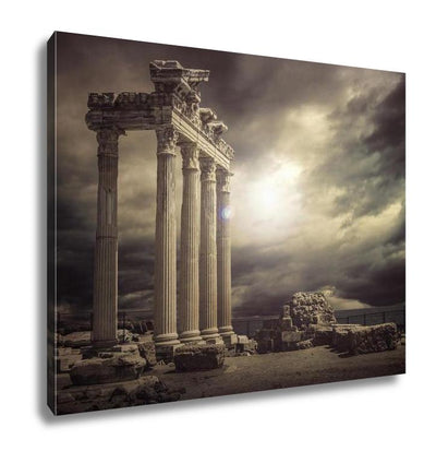 Gallery Wrapped Canvas, Apollon Temple Ruins Antalyaturkey - fashionbests