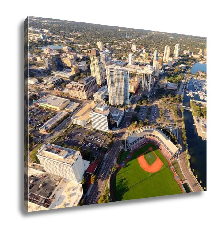Gallery Wrapped Canvas, Aerial View Of St Petersburg Florida - fashionbests