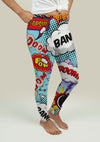 Leggings with Comic Speech Bubbles - fashionbests
