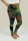 Leggings with Dinosaur Camouflage