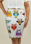 Pencil Skirt with Owls